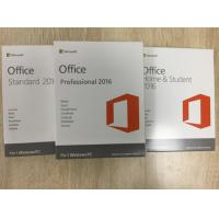 Buy cheap Microsoft Office 2016 Home And Student PKC Retailbox NO Disc 100% Activated Online from wholesalers