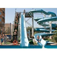 Fiberglass Open Spiral Water Slide Anti - UV 6-8mm Normal Thickness For Swimming Pool