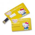 Buy cheap Slim Card USB Flash Drives Full Color Printing Silk Printing Both Sides from Wholesalers