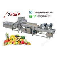 Buy cheap Automatic Fruit and Vegetable Washing and Drying Processing line from wholesalers