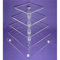 Buy cheap 5 tier acrylic bakery display case cupcake food display stand rack from wholesalers