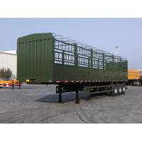 Buy cheap tri axle semi trailer air bag suspension fence trailer for sale from wholesalers