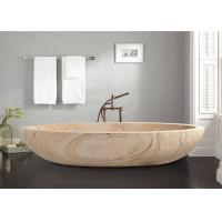 Buy cheap Oval Shaped Durable Natural Stone Bathtub Sandstone Travertine Material from wholesalers