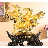 Buy cheap Golden three-horse furnishing articles of resin product
