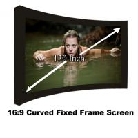 Buy cheap New Arrival Curved Fixed Frame Projection Screen130 Inch 16:9 Ratio Projector Screens 3D from wholesalers