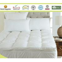 Buy cheap Microfiber Baffle Boxes Self-piping Mattress Pad Toppers King Size White or Customized from wholesalers
