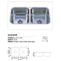 Buy cheap Stainless Steel Undermount Double Sink Kud3118 from wholesalers