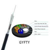 Buy cheap All Dielectric Loose Tube FRP 12 Core Fiber Optic Cable from wholesalers