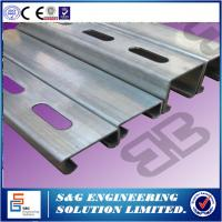 Buy cheap Cee Shape Purlin Roll Forming Machine For Roof Panel 11m X 1.3m X 1.35m Size product