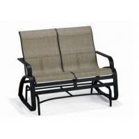 Buy cheap Double Seat Folding Patio Furniture Sling Patio Glider Bench Stainless Steel from wholesalers