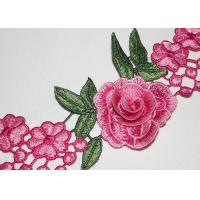 Buy cheap 3D Flower Multi Colored Embroidered Lace Trim With High Color Fastness Azo Free product