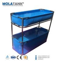 Buy cheap MolaTank PVC Tarpaulin Collapsible Fish Farming Tank Portable 300 Gallon FishTank from wholesalers