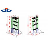 Buy cheap Alloy Aluminium Mobile Tower Scaffold Lightweight Scaffold Tower Platform 272kg Load Capacity from wholesalers