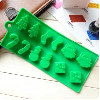 Buy cheap Silicone cake mold Christmas tree snowman socks styling chocolate ice mold from wholesalers