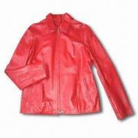 Buy cheap Women's Leather Jacket with 100% Nylon Lining from wholesalers