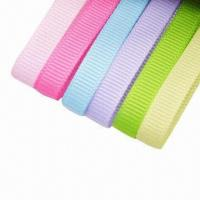 Buy cheap 9mm or 3/8-inch double-face woven edged grosgrain ribbons, made of 100% from wholesalers