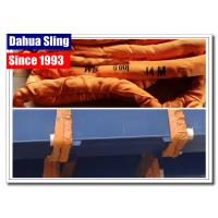 Buy cheap Durable 10t Orange Lifting Straps , 1 Layer Synthetic Round Slings 300mm Width from wholesalers
