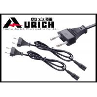 Buy cheap 2.5A 250V 2 Prong Power Cord Figure 8 European Standard PVC Material from wholesalers