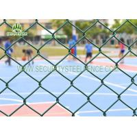 China Diamond Security Galvanised Chain Link Fencing Anti - Climb With 60 × 60mm Holes on sale