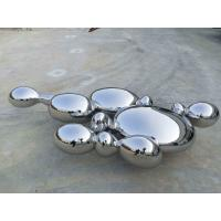 Buy cheap Contemporary Large Abstract Sculpture , Stainless Steel Garden Ornaments Statues from wholesalers