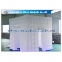 Buy cheap White Big 2.4 X 2.4m Inflatable Led Photo Booth For Parties Or Wedding product