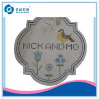 Buy cheap Garment / Shoes Card Printing Woven Labels Hangtags Beautiful from wholesalers