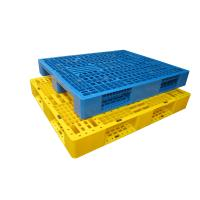 Buy cheap 3 Skid Industrial Plastic Pallet Reusable Eco Friendly With Metal Bar from wholesalers