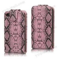 Buy cheap Nice handy  Snake leather case  iphone 4 Leather  pouches with durable lightweight from wholesalers