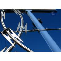 Buy cheap Concertina Razor Barbed Wire Electric Galvanized Steel Garden Border Edging from wholesalers