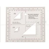 Military Triangle Scale Protractor 11cmx11cm square set sandwich line printing for militry KMP-2