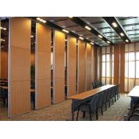 Buy cheap Multi Color Wood Sound Proof Partitions with Aluminium Profile / Sliding Room Dividers from wholesalers