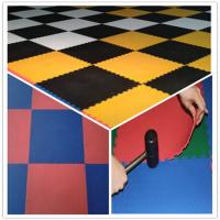 Buy cheap 3W Oil Resistance Plastic PVC Click Interlocking Flooring Tiles product