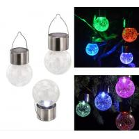 Buy cheap Solar Energy Powered LED Colorful Crack Pin Glass Balls Lights,LED Garden Night Lamps from wholesalers
