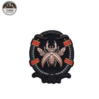 Buy cheap Eco Friendly Bumble Bee Embroidered Patch , Sew On Style Custom Uniform Patches from wholesalers