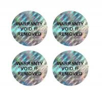 Buy cheap 3D Self-VOiding Tamper Resistant Hologram Warranty Labels with Consecutive Barcodes Stickers from wholesalers