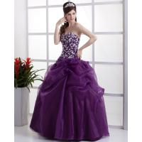 Buy cheap Purple gorgeous V Neck Ball Gown Wedding dress for commercial use from wholesalers