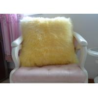 Buy cheap Shearling Sheepskin Lambswool Seat Cushion Double Sided For Bed / Sofa Decorative from wholesalers