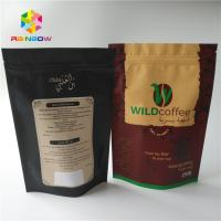 Buy cheap Custom Gram Stand Up Roasted Coffee Pack Mylar Pouch Matte Finished With Aluminum Foil Food Grade Coffee Bean Powder Bag from wholesalers