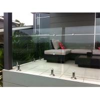 Buy cheap Laminated Glass Stainless Steel Balcony Balustrade, Glass Railing Outdoor Prices product