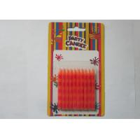 Buy cheap Special Orange Stripe Silk Screen Printing Party Pillar Candles for Birthday from wholesalers