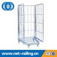 Buy cheap Metal Foldable wheeled warehouse Pallet cage container from wholesalers
