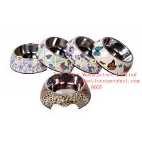 Buy cheap Dishwasher-Safe Melamine Dog Bowl Applique Round Dog Bowl Set from wholesalers