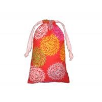 Buy cheap Colorful Custom Pull String Bags Printed Cotton Fabric Drawstring Gift Pouch from wholesalers