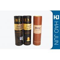 Vintage Cardboard Wine Tubes , Cylinder / Round Single Bottle Wine Box