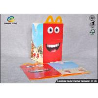Buy cheap Custom Made Cardboard Takeaway Boxes Glossy Lamination Finish For Fast Food from wholesalers