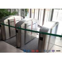 Buy cheap TCP / IP Flap Turnstile Security Gate Access Control Wheelchair Lanes For Subway Doors product