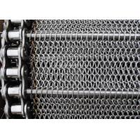 China Stainless Balanced Weave Wire Mesh Conveyor Belt With Chain , 10 - 30m / Roll on sale