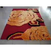 Buy cheap Big Flower Structured Acrylic underlay Polyester Shaggy Face Carpet Rug 2400G Pile from wholesalers