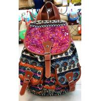 Buy cheap Floral Print Ladies Canvas Backpack , Printed Canvas Backpack from wholesalers