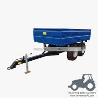 Buy cheap 3TR4W - 4wheels small tractor trailer dump trailer with double axle 3Ton from wholesalers